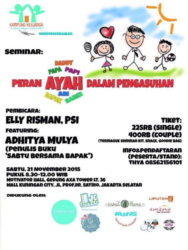 Seminar-Parenting-Kampung-Keluarga-Elly-Risman-Adhitya-Mulya-AXA-Tower-November-2015