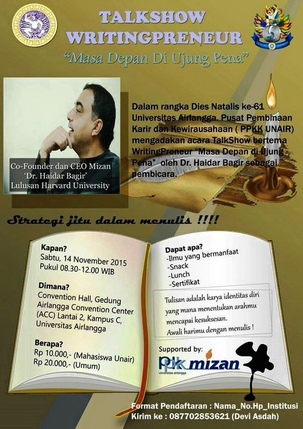 Talkshow-Writingpreneur-Haidar-Bagir-Mizan-Airlangga-Convention-Center-November-2015