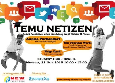 Temu-Netizen-Student-Job-Wajib-Belajar-12-Tahun-November-2015-Benhil