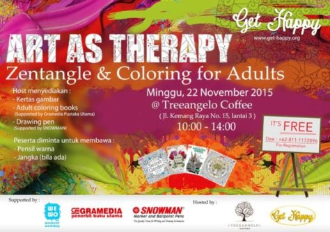 Workshop-Art-As-Therapy-Depresi-Get-Happy-Treeangelo-Kemang-November-2015