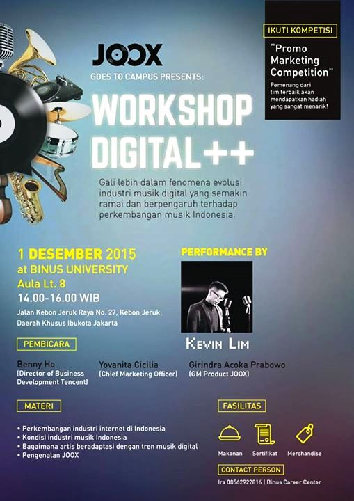 Workshop-Digital-Music-JOOX-BINUS-UNIVERSITY-Desember-2015-Tencent