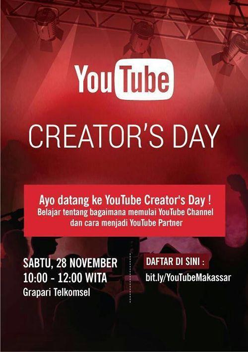 YouTube-Creator's-Day-Grapari-Telkomsel-Makassar-November-2015