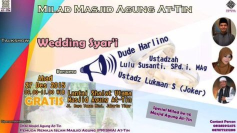 Milad-AT-TIIN-Talkshow-Wedding-Syar'i-Dude-Harlino-Desember-2015