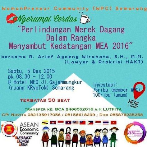 Ngerumpi-Cerdas-WomenPreneur-HAKI-MEA-Merek-Semarang-Desember-2015