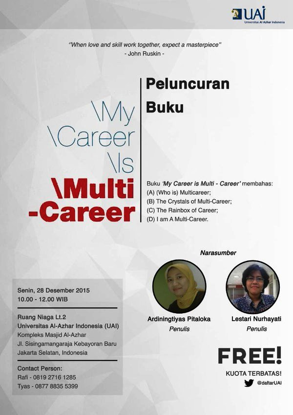 Peluncuran -Buku-My-Career-Is-Multi-Career-Universitas-Al-Azhar-Indonesia