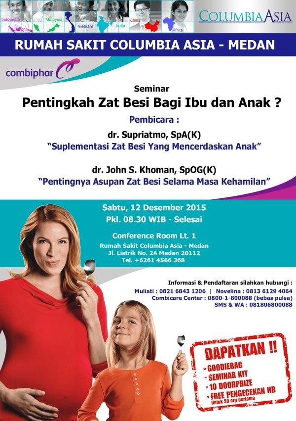 Seminar-Ibu-Anak-Combiphar-Combicare-Columbia-Asia-Medan-Desember-2015