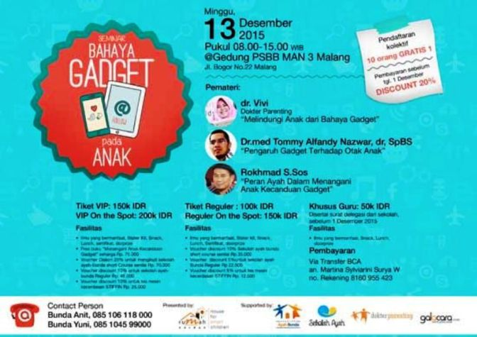 Seminar Parenting Bahaya Gadget-Pada-Anak-Malang-PSBB-MAN-3-Desember-2015