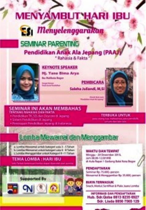Seminar-Parenting-Hari-Ibu-Pendidikan-Anak-ala-Jepang-Bogor-Desember-2015