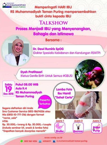 Talkshow-Hari-Ibu-RS-Muhammadiyah-Taman-Puring-Gentle-Birth-Desember-2015