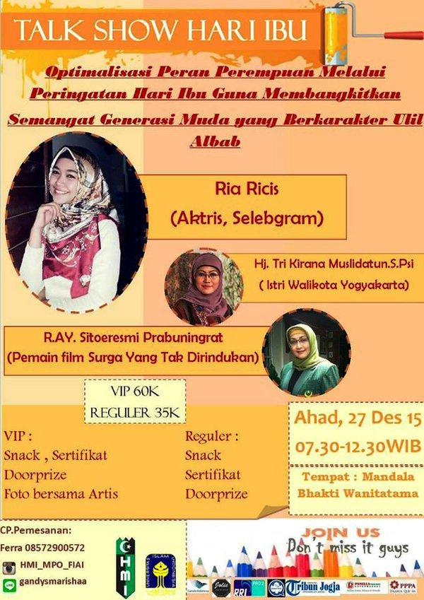 Talkshow-HMI-Spesial-Hari-Ibu-Ria-Ricis-Desember-2015