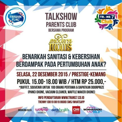 Talkshow-Parents-Club-Modern=Mom-Trans-7-Frisian-Flag-Desember-2015