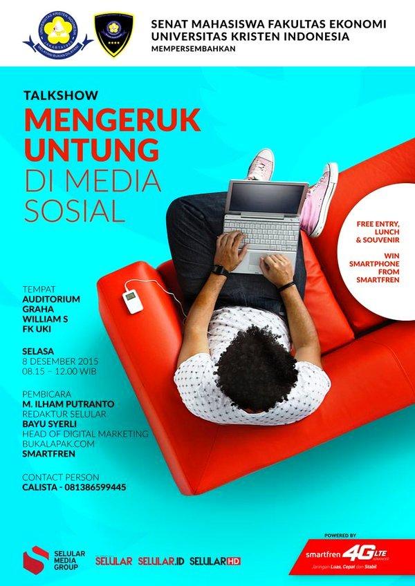 Talkshow-Selular-BukaLapak-Smartfren-UKI-Media-Sosial-Desember-2015