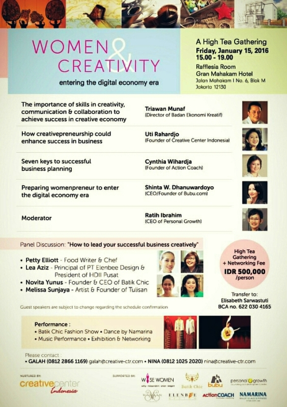 Women-Creativity-High-Tea-Gathering-Triawan-Munaf-Ratih-Ibrahim-Gran-Mahakam-Januari-2016