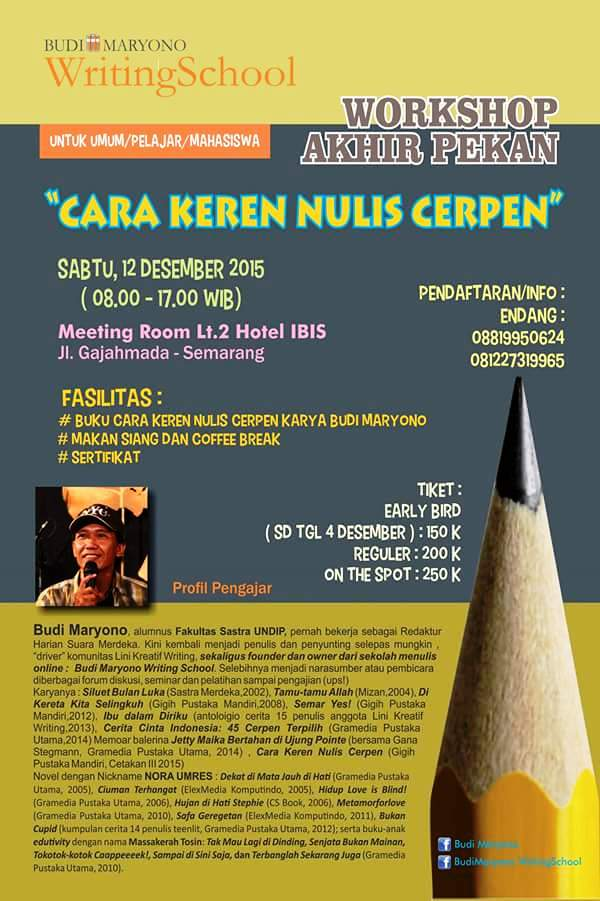 Info Liputan Blogger Semarang: Writing School Workshop