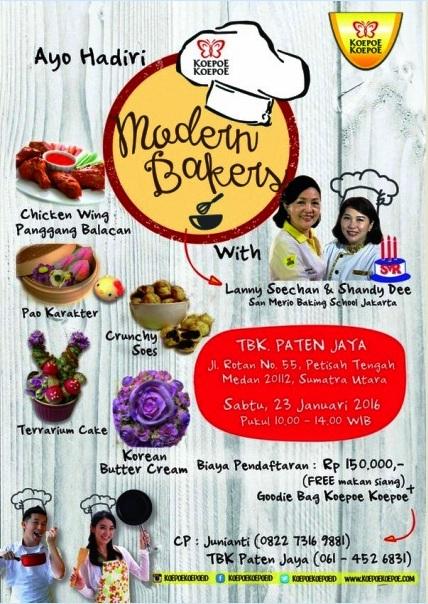 Cooking-Class-Modern-Bakery-KOEPOE-KOEPOE-Paten-Jaya-Medan-Januari-2016