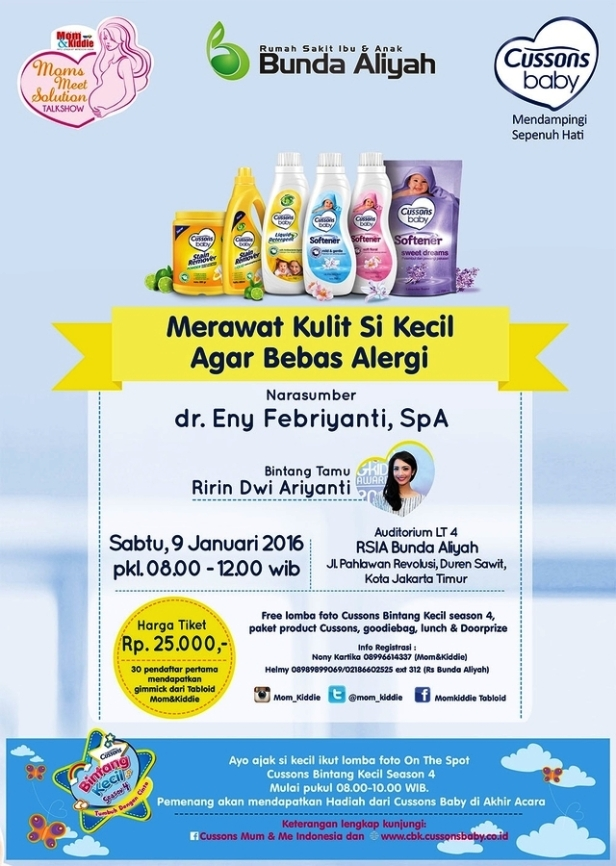 Moms-Meet-Solution-Talkshow-Tabloid-Mom-Kiddie-Cusson-Baby-Alergi-Anak-RSIA-Bunda-Aliyah-Januari-Jakarta-2016