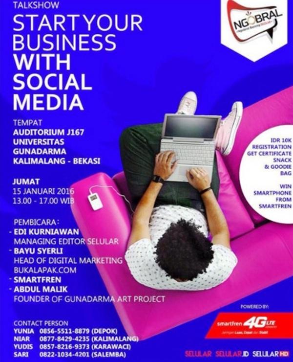 Ngobrol-Bareng-Selular-BukaLapak-Smartfren-Media-Sosial-Gunadarma-Kalimalang-Bekasi-Januari-2016