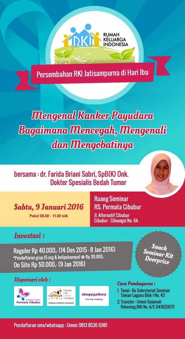 Seminar-Awam-Kanker-Payudara-Rumah-Keluarga-Indonesia-RS-Permata-Cibubur-Januari-2016