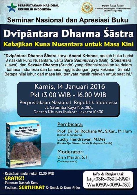 Seminar-Nasional-Naskah-Kuno-Nusantara-Anand-Krishna-Salemba-Januari-Jakarta-2016