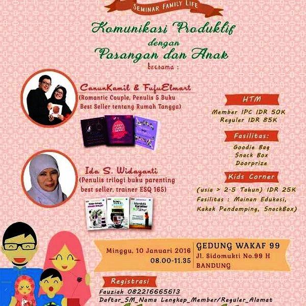 Seminar-Parenting-Family-Life-Wakaf-99-Bandung-Januari-2016