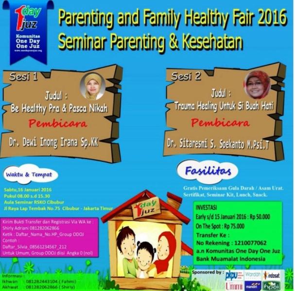 Seminar-Parenting-Kesehatan-ODOJ-RSKO-Cibubur-Jakarta-Januari-2016