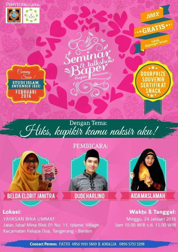 Seminar-Talkshow-Baper-Dude-Herlino-Yayasan-Bina-Ummat-Islamic-Village-Tangerang-Januari-2016