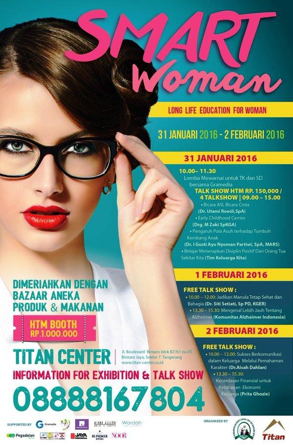Talkshow-Smart-Woman-Manula-Alzheimer-Finansial--Februari-Titan-Center-Bintaro-Tangerang-Februari-2016