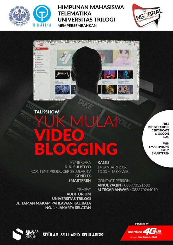 Talkshow-Video-Blogging-Selular-Universitas-Trilogi-Smartfren-Jakarta-Januari-2016
