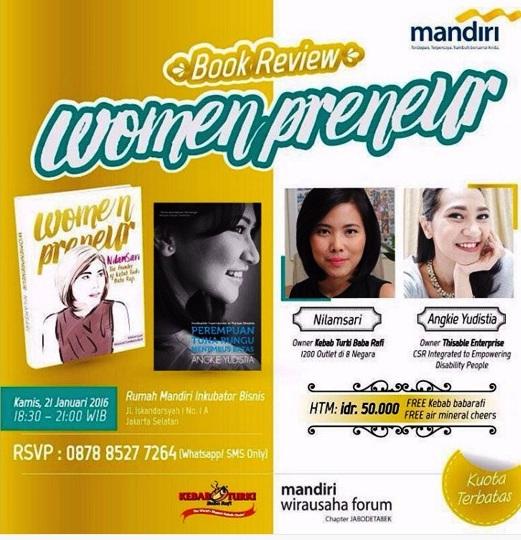 Talkshow-Womenpreneur-Mandiri -Wirausaha-Forum-Nilamsari-Angkie-Yudistia-Jakarta-Januari-2016
