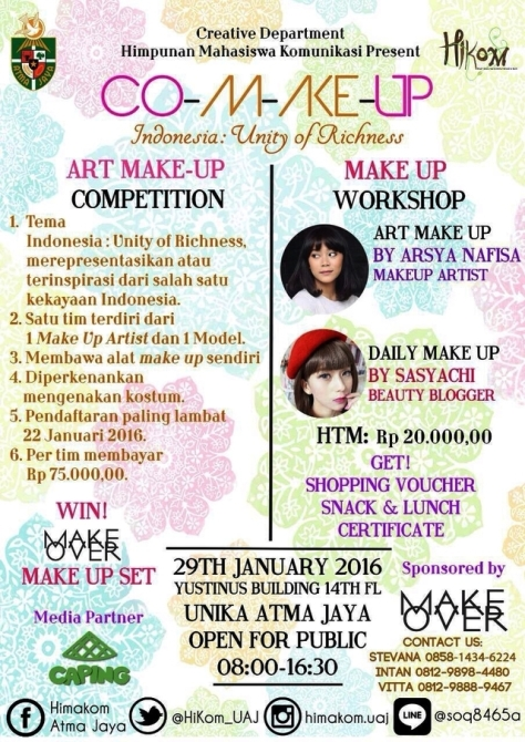 Workshop-Art-Daily-Make-UpCO-M-AKE-UP-Sasyachi-Atmajaya-Januari-Jakarta-2016