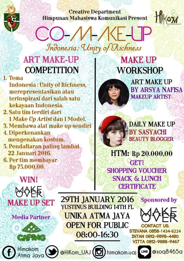 Workshop-Art-Daily-Make-UpCO-M-AKE-UP-Sasyachi-Atmajaya-Januari-Jakarta-2016
