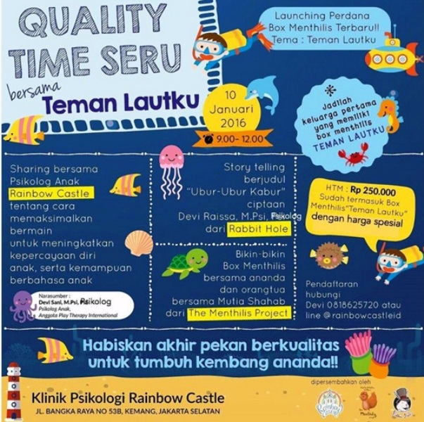 Workshop-Parenting-Menthilis-Rainbow-Castle-Rabbit-Hole-Bangka-Januari-2016