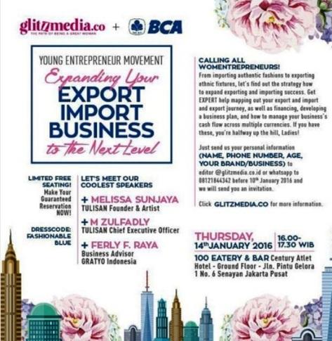 Young-Womentrepreneurs-Movement-Glitzmedia-BCA-100-Eatery-Bar-Tulisan-Jakarta-Januari-2016