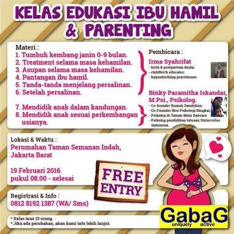 Kelas-Parenting-Edukasi-Ibu-Hamil-Gabag-Dandelion-Semanan-Jakarta-Februari-2016