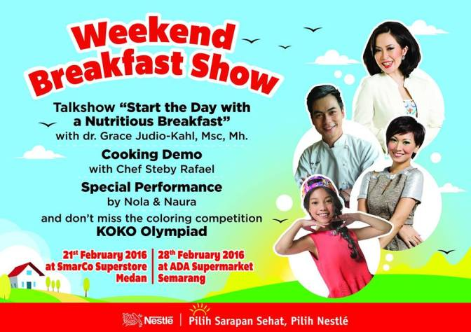 Info Liputan Blogger Semarang: Nestle Weekend Breakfast Show