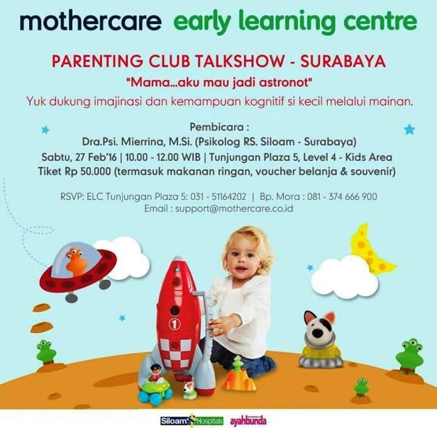 Parenting-Club-Talkshow-Early-Learning-Centre-Surabaya-Februari-2016