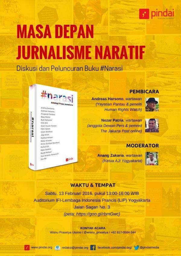 Peluncuran-Buku-Jurnalisme-#Narasi-Pindai-IFI-LIP-Jogjakarta-Februari-2016