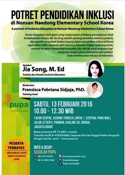 Seminar-Anak-Berkebutuhan-Khusus-Pendidikan-Inklusi-Jia-Song-Korea-Jakarta-Tribeca-Februari-2016