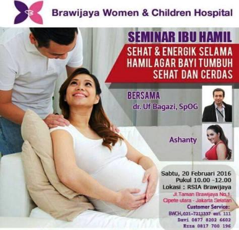 Seminar-Ibu-Hamil-RSIA-Brawijaya-Hospital-Ashanty-Februari-2016