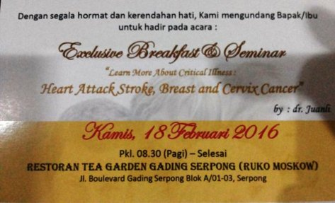 Seminar-Kesehatan-Awam-Critical-Illness-Tea-Garden-Gading-Serpong-Tangerang-Februari-2016