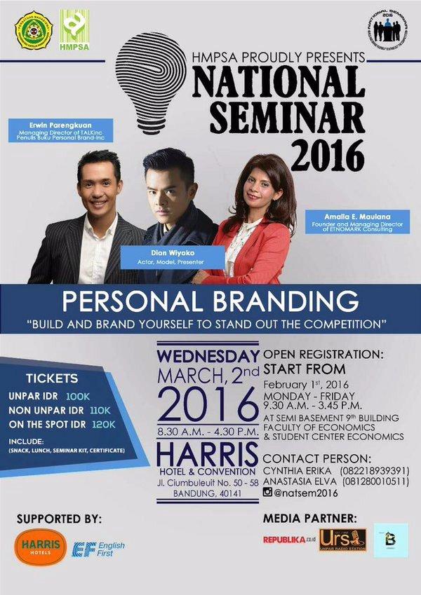 Seminar-Nasional-Personal-Branding-UnPar-Erwin-Parengkuan-Dion-Wiyoko-Bandung-Maret-2016