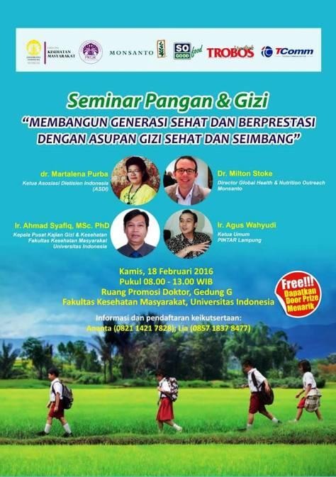 Seminar-Pangan-Gizi-Monsanto-FKM-UI-Depok-Februari-2016