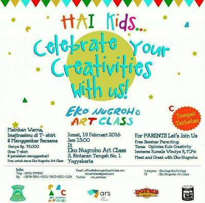 Seminar-Parenting-Eko-Nugroho-Art-Class-Jogjakarta-Februari-2016-Kreativitas
