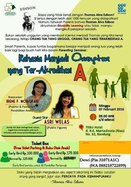 Seminar-Parenting-ETL-Learning-Indonesia-Stimulasi-Irene-Mongkar-Bandung-Februari-2016