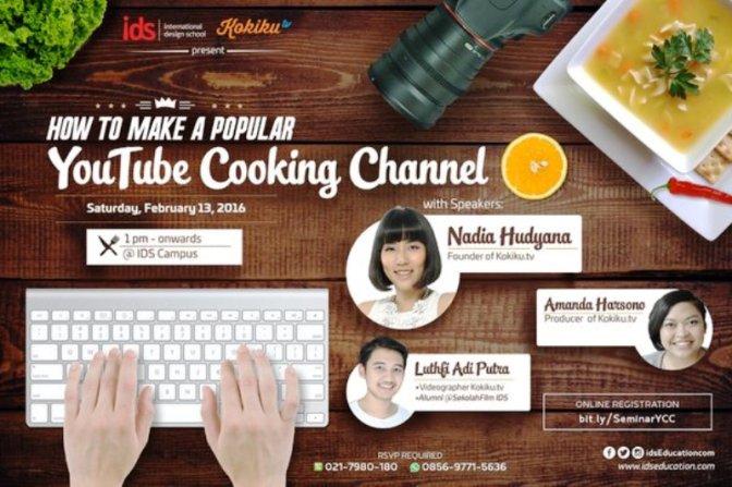 Seminar-Video-Tutorial-Kokiku.tv-YouTube-Cooking-Channel-International-Design-School-IDS