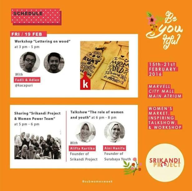 Srikandi-Project-Women-Market-Week-Surabaya-Jumat-Workshop-Lettering-wood-Srikandi-Project-Youth
