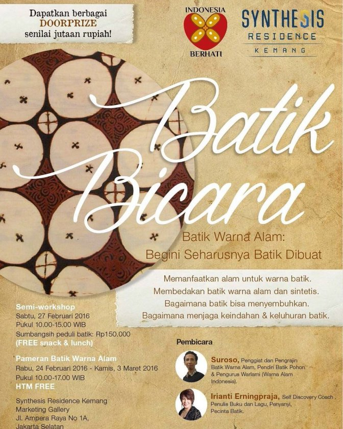 Talkshow-Batik-Bicara-Warna-Alam-Irianti-Kemang-Jakarta-Februari-2016