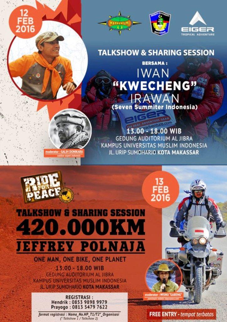 Talkshow-Dunia-Petualang-Eiger-7-Summits-Expedition-Jeffrey-Polnaja-UMI-Makassar-Februari-2016