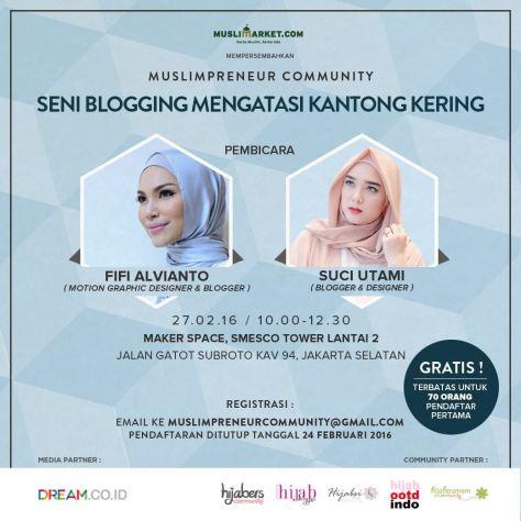 Talkshow-Muslimpreneur-Community-Blogging-Fifi-Alvianto-Suci-Utami-Februari-2016-Jakarta