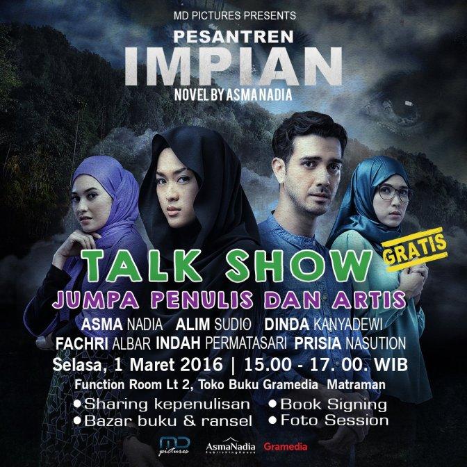 Talkshow-Novel-Film-Pesantren-Impian-Gramedia-Jakarta-Maret-2016